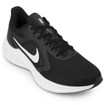 Tênis Nike Downshifter 10 NK20 Preto-Branco