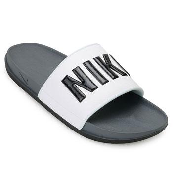 Chinelo Nike Offcourt Slide NK19 Cinza-Preto-Branco TAM 44 ao 51