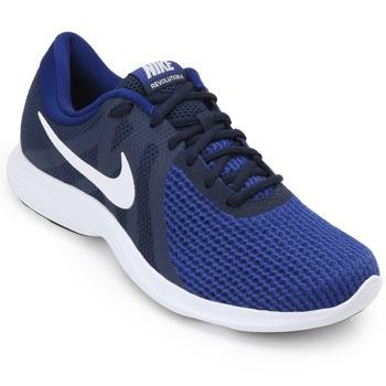 Tênis Nike Revolution 4  NK18 Marinho-Branco