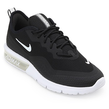 Tênis Nike Air Max Sequent 4.5 NK19 Preto-Branco