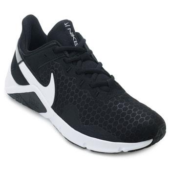 Tênis Nike Legend Essential 2 NK21 Preto-Branco-Prata TAM 44 ao 48