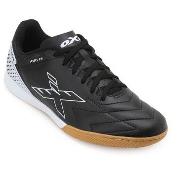 Chuteira Futsal OXN Agilis CO OX19Indoor Preto-Branco