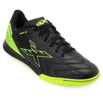 Chuteira Futsal OXN Agilis CO OX19Indoor Preto-Verde