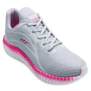 Tênis Running Olimpak OP21-0211845 Prata-Pink TAM 40 ao 44