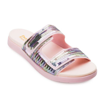 Chinelo Fly Pampili Paetês PP21-638027 Rosa