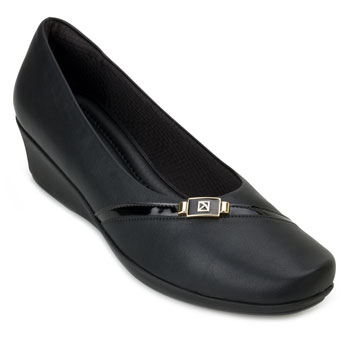 Sapato Anabela Piccadilly PD20-144068 Preto TAM 40 ao 44