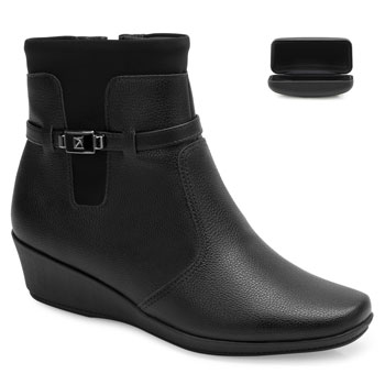 Bota Cano Curto Piccadilly e Case PD20-144060 Preto