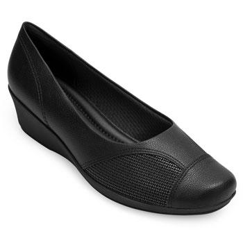 Sapato Anabela Piccadilly PD20-144062 Preto TAM 40 ao 44