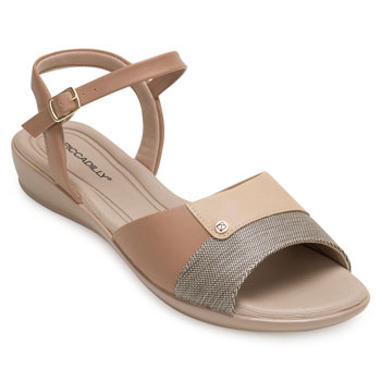 Sandália Comfort Piccadilly PD20-500256 Caramelo-Bege TAM 40 ao 44