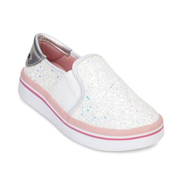 Slip On Pink Cats Glitter Juvenil PC19-V0742 Branco-Prata