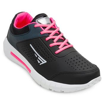 Tênis Running Point Tênis ZK20-ADX Branco-Preto-Pink TAM 40 ao 44