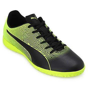 Chuteira Futsal Puma Spirit II IT BDP PM19-105885 Preto-Verde
