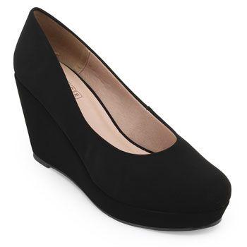 Sapato Anabela Sense Bella SB19-1230383N Preto TAM 40 ao 44