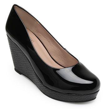 Sapato Anabela Sense Bella SB19-1230383V Preto TAM 40 ao 44