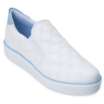 Tênis Slip On Sense Flex AF21-315956 Branco-Azul TAM 40 ao 44