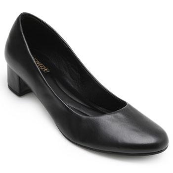 Sapato Sense Rio Salto Baixo ZA19-2001Napa Preto TAM 40 ao 44