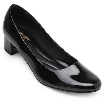 Sapato Sense Rio Salto Baixo ZA19-2001Verniz Preto TAM 40 ao 44