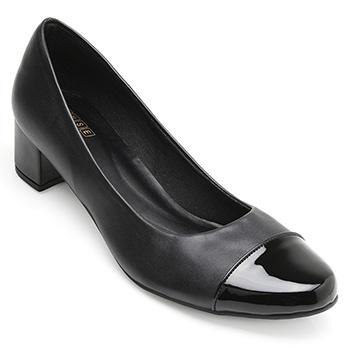 Sapato Sense Rio Salto Baixo ZA19-2002 Preto TAM 40 ao 44