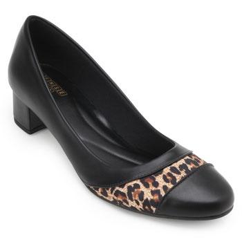 Sapato Sense Rio Salto Baixo ZA19-2003 Preto-Caramelo TAM 40 ao 44