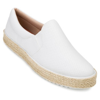 Slip On Furadinho Sense Way GB19-1056 Branco TAM 40 ao 44