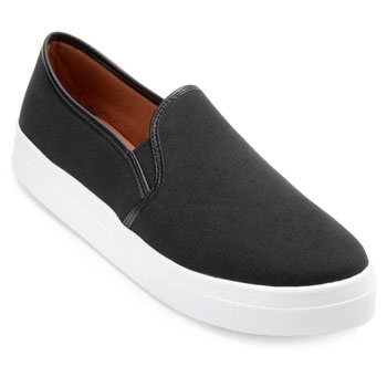 Slip On Lona Sense Way GB19-1261 Preto TAM 40 ao 44