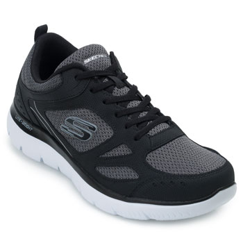 Tênis Skechers Summits South Rim SK19-52812 Preto-Branco TAM 44 ao 48