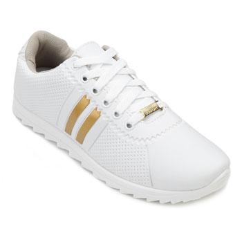 Tênis Star Feet Tratorado SF18-SF001 Branco-Dourado