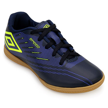Chuteira Futsal Umbro Speed IV UB18 Marinho-Royal-Limão