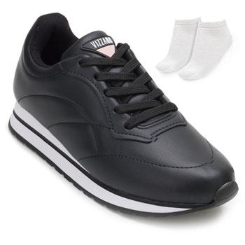 Tênis Jogging Vizzano e Meia VZ20-1333201 Preto