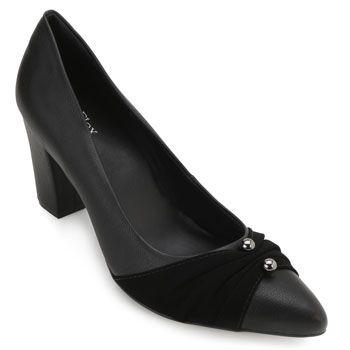 Sapato Sense AF18-183810 Pele Preto TAM 40 ao 44