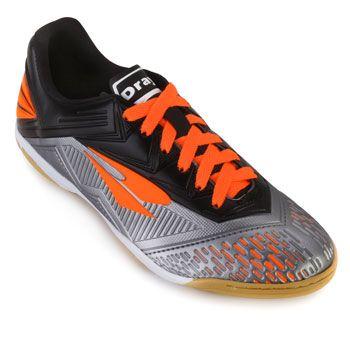 Chuteira Futsal Dray DR18-367CO Chumbo-Laranja