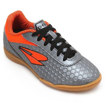 Chuteira Futsal Dray DR18-366CO Chumbo-Laranja