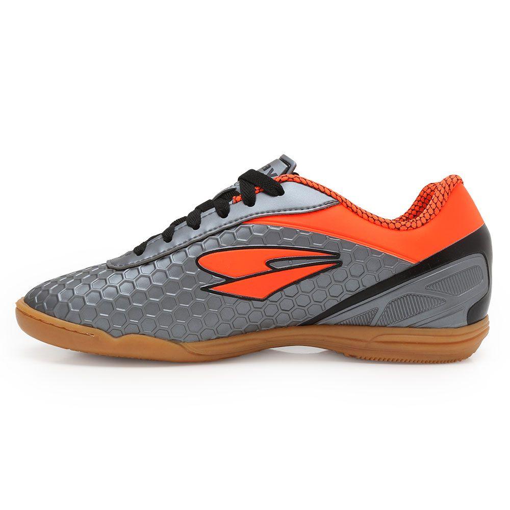 bf712b7e69 ... Tênis Futsal Dray DR18-366CO Chumbo-Laranja ...