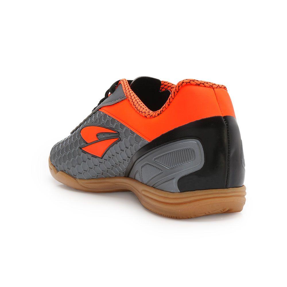 575a756355 ... Tênis Futsal Dray DR18-366CO Chumbo-Laranja