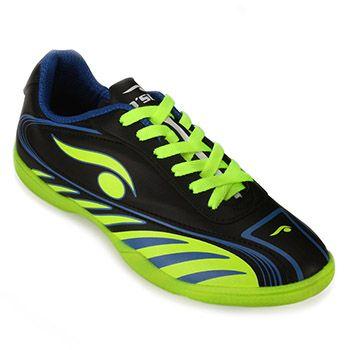 Chuteira Futsal Dsix DS18-6203 Verde Limão-Azul