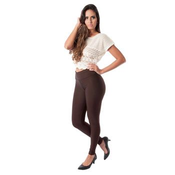 Legging Catwalk Feminina 11CO Marrom TAM P ao GG