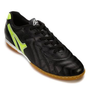 Chuteira Futsal Mathaus 113.069 Preto-Verde Limão TAM 44 ao 48