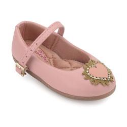 Sapato Boneca Pequenina Baby PQ18-1015 Rosê