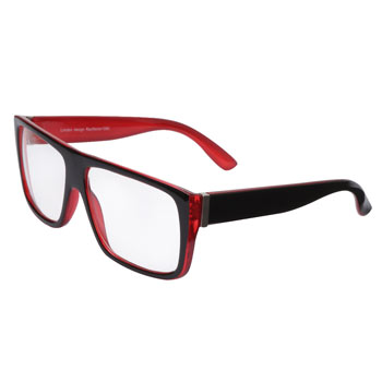 Óculos Ray Flector 1080CO Preto-Vermelho