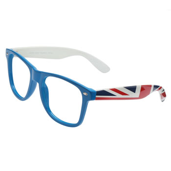 Armação de Óculos Ray Flector W2164 Azul-Branco