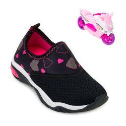 Tênis Kidy Play Infantil KD21-00715970306 Preto-Pink